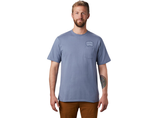 Mountain Hardwear Marrow Short Sleeve Tee Men light zinc